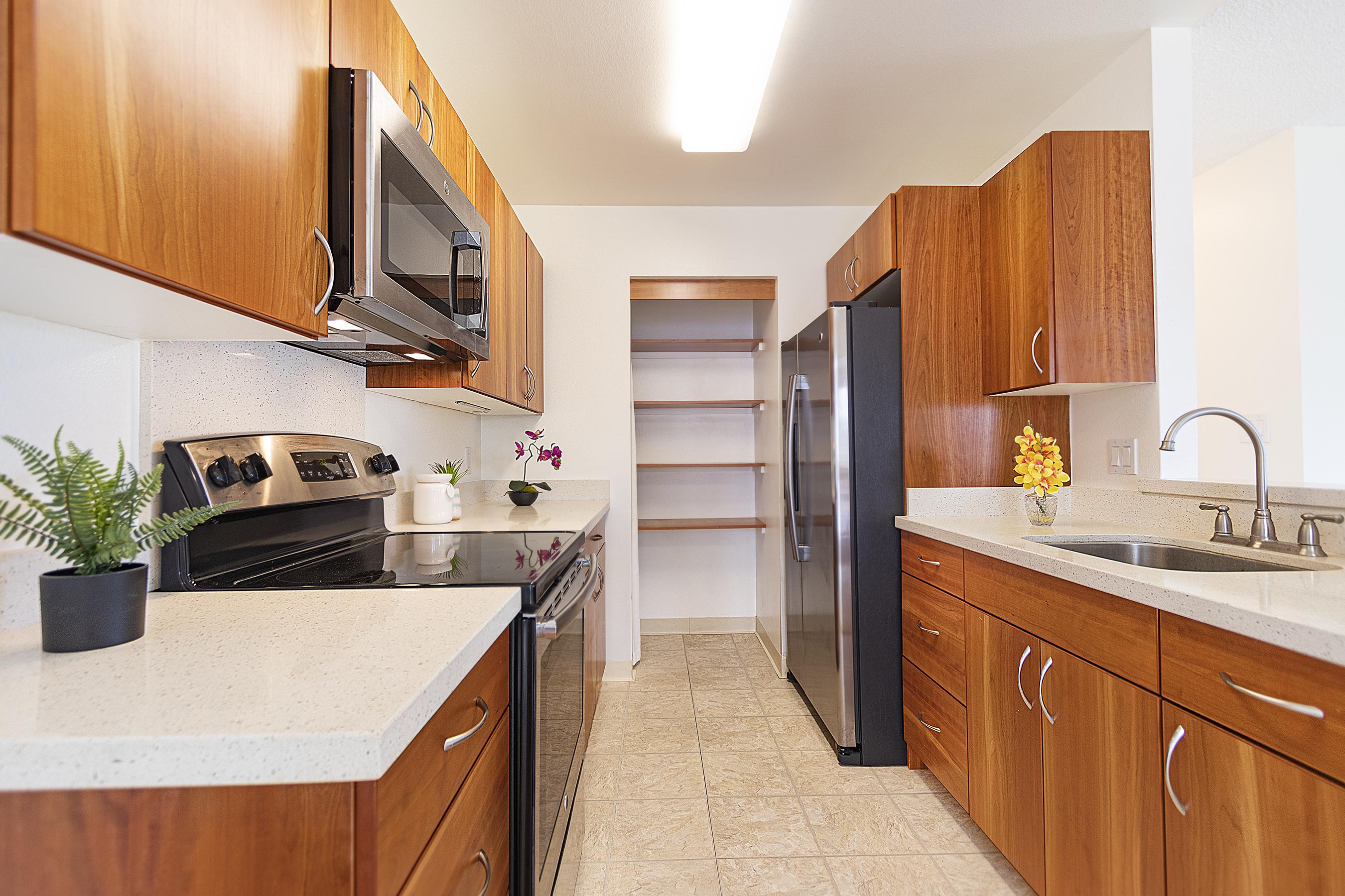 Kitchen at 94-870 Lumiauau St #Y201