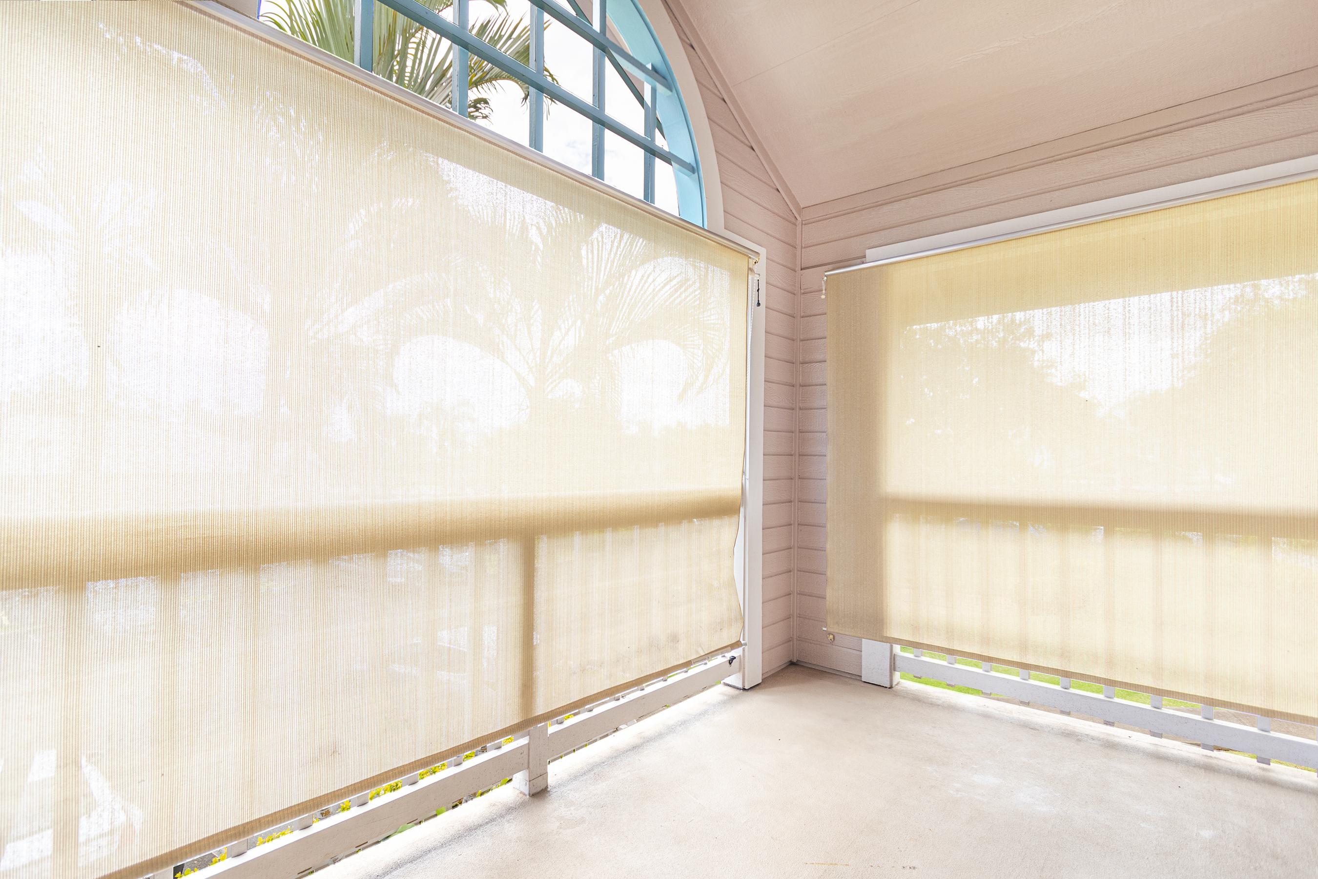 Lanai sun and privacy shade at 94-870 Lumiauau St #Y201