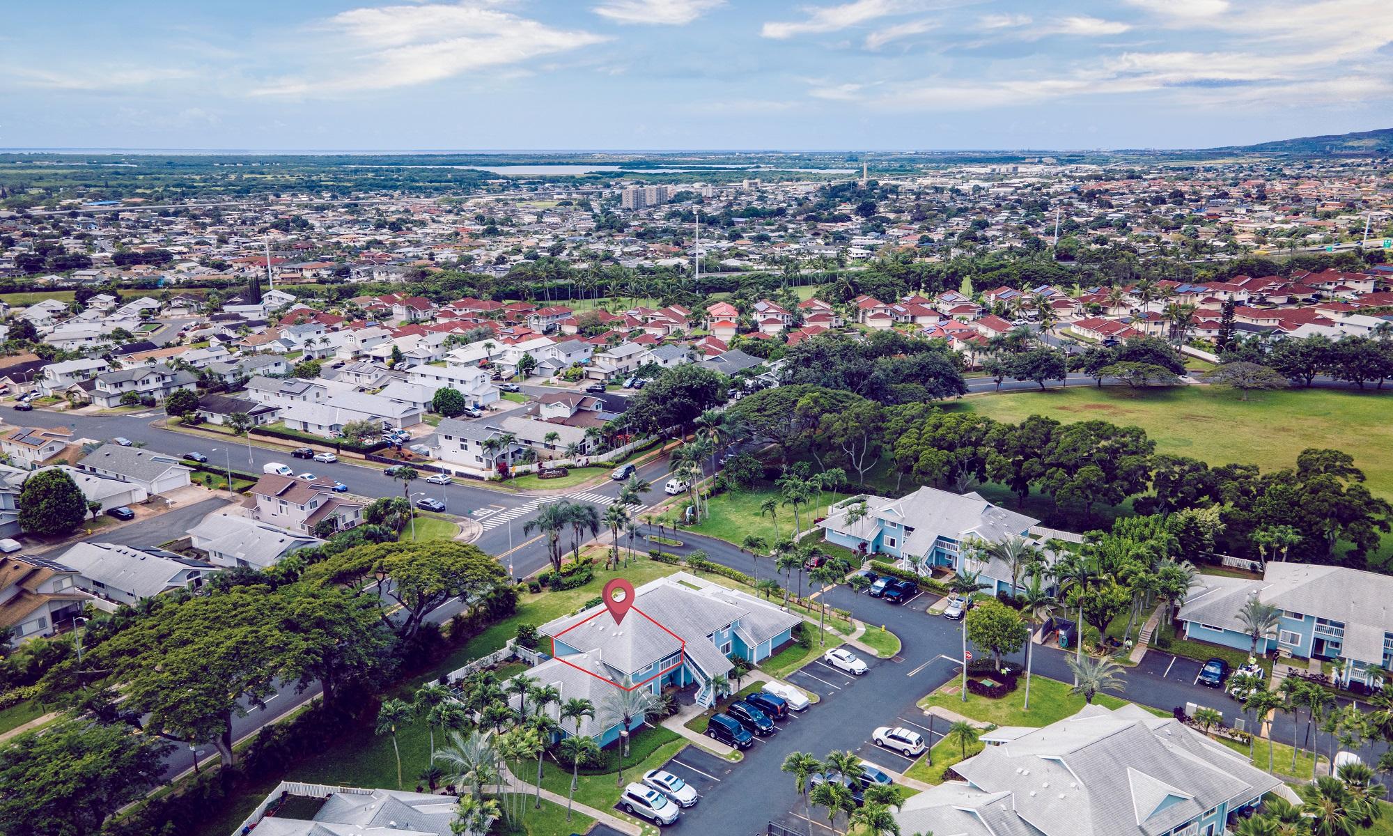 Aerial View of 94-970 Lumiauau Street J202 at Hoomalu at Waikele
