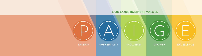 PAIGE Core Values