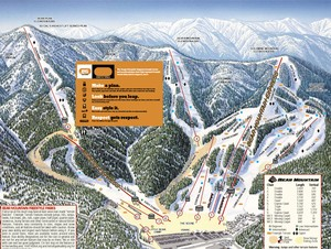 Bear Mountain Ski Resort Map