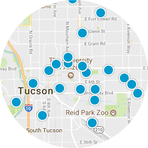 East Tucson Real Estate Map Search