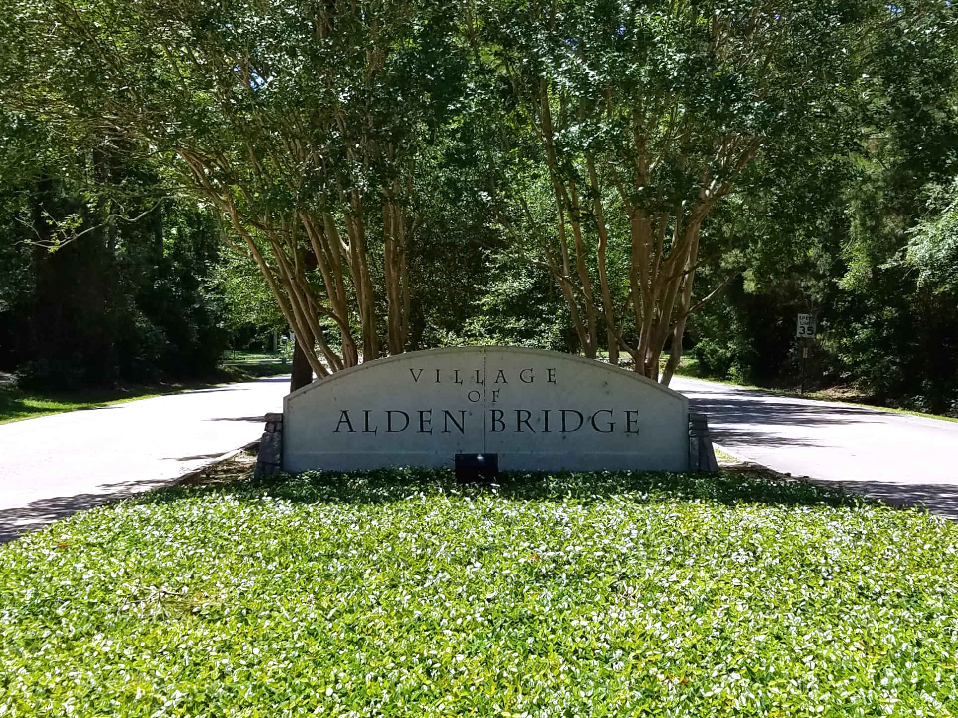 Village of Alden Bridge Entrance