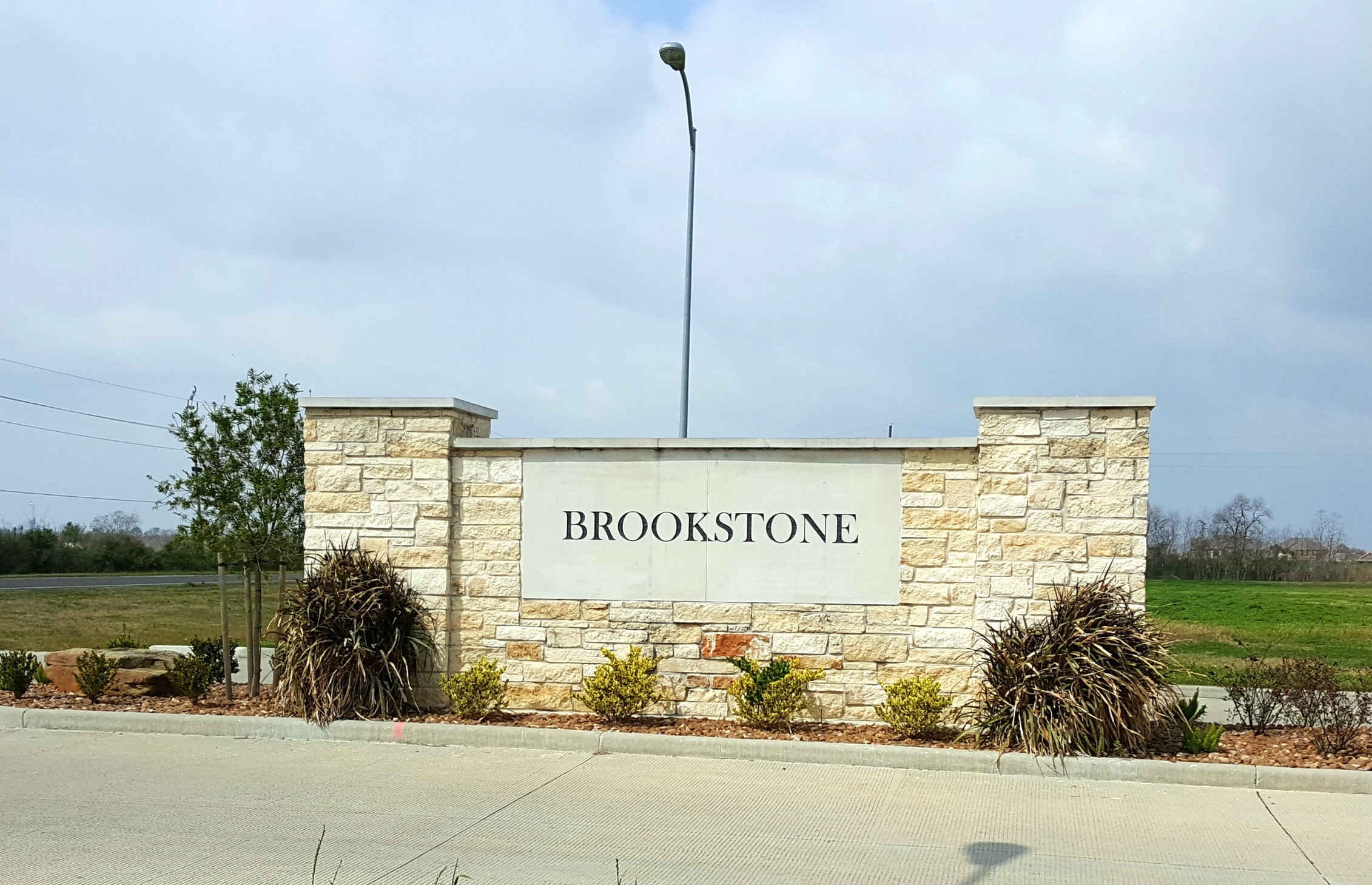 Brookstone Subdivision Entrance