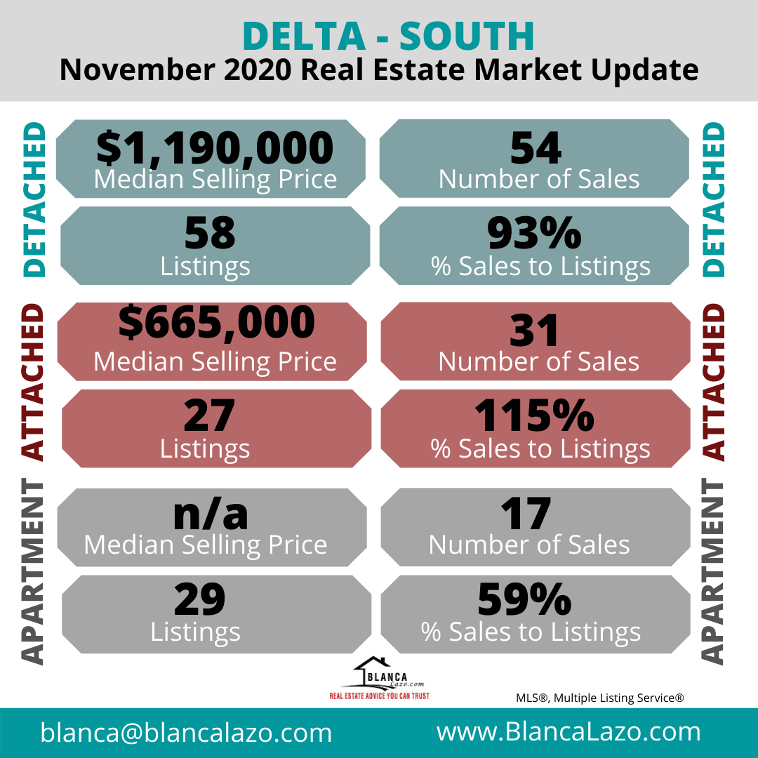 Delta Real Estate Market Update November 2020
