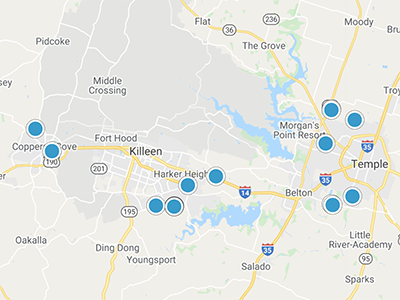 Central TX Interactive Map Search