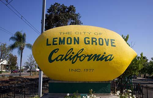 lemon grove ca town sign