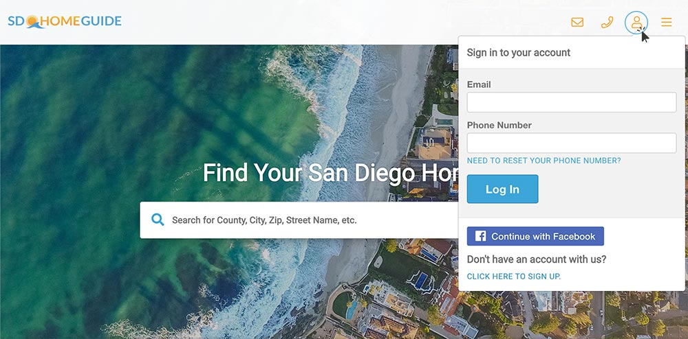 sign in to your sd home guide account