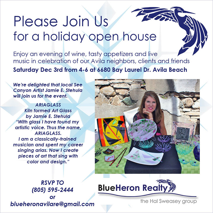 Please join us for the Blue Heron Realty Holiday Open House