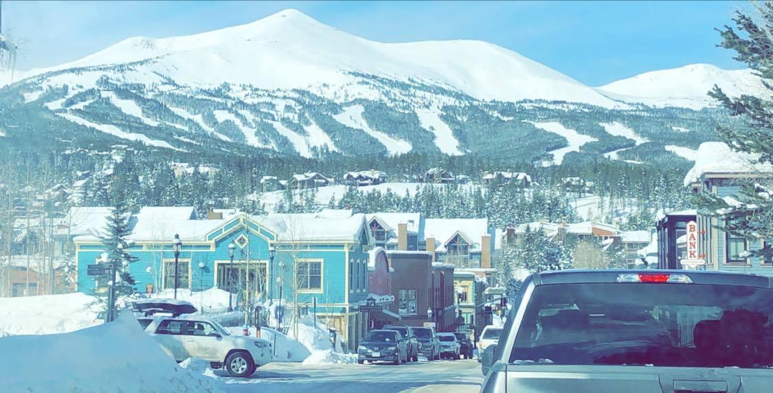 Breckenridge houses in snow