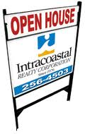 Intracoastal Realty Open House Sign Buying Real EState bobby brandon real estate team