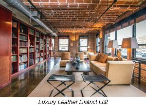 luxury leather district loft