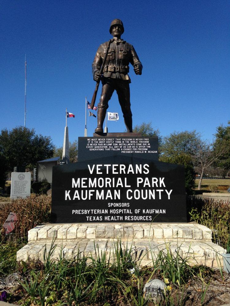 Kaufman County Veterans Memorial Park and Vietnam Memorial Wall of Texas