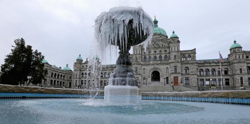 Frozen Victoria Fountain
