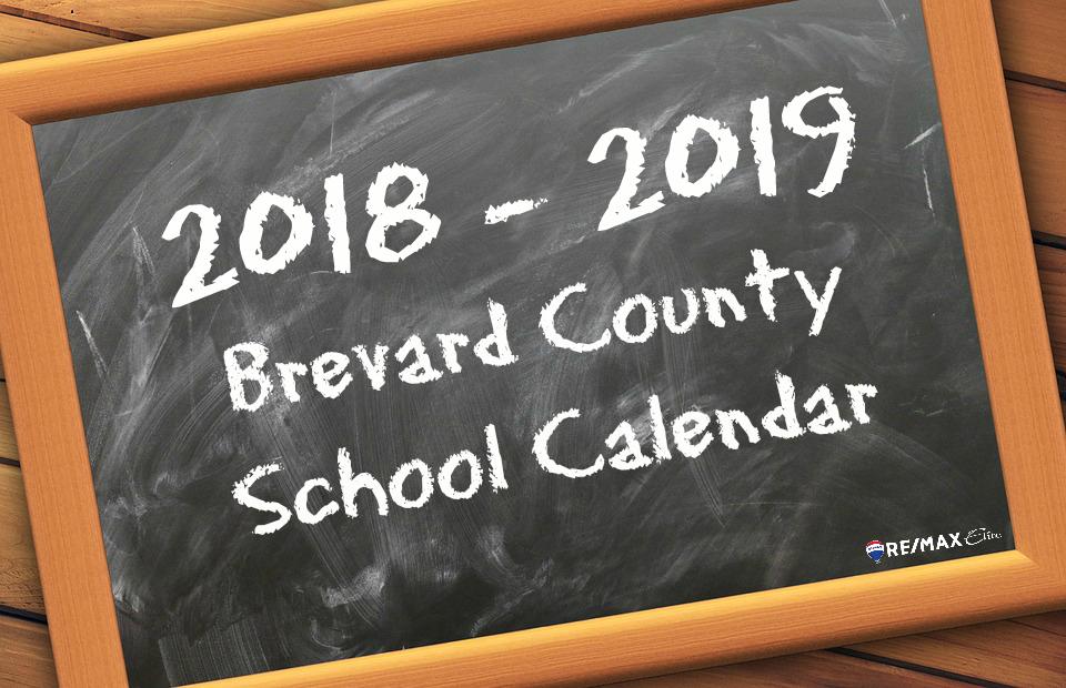 2018 2019 Brevard School Calendar