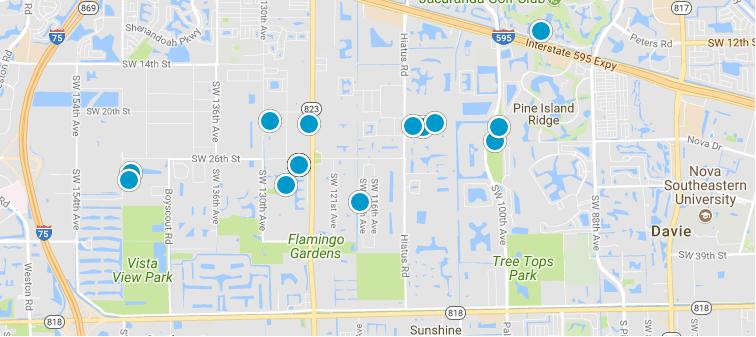 Davie Search map