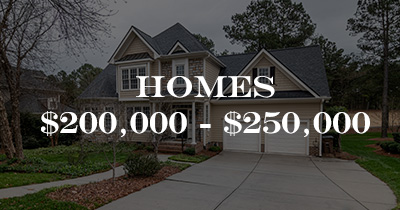 Homes $200,000 to $250,000
