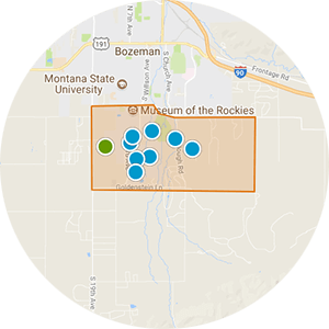 South Bozeman Real Estate Map Search