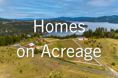 Homes on Acreage for sale in Coeur d'Alene Area North Idaho