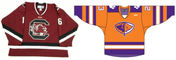 South Carolina Stingrays wear Gamecock and Tigers Hockey Jerseys