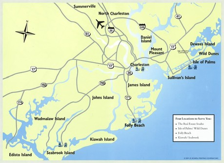 Charleston Area Real Esate Map
