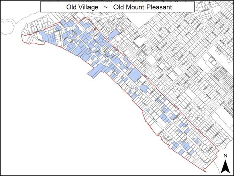 Mount Pleasant Old Village Map