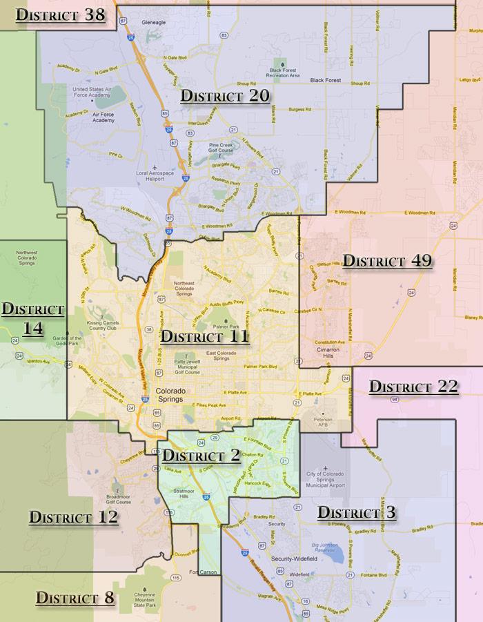 Colorado Springs School District Map | Smeka