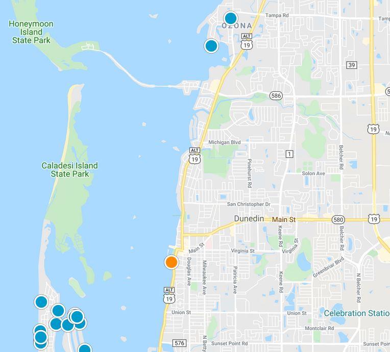 Dunedin Florida Map tool image
