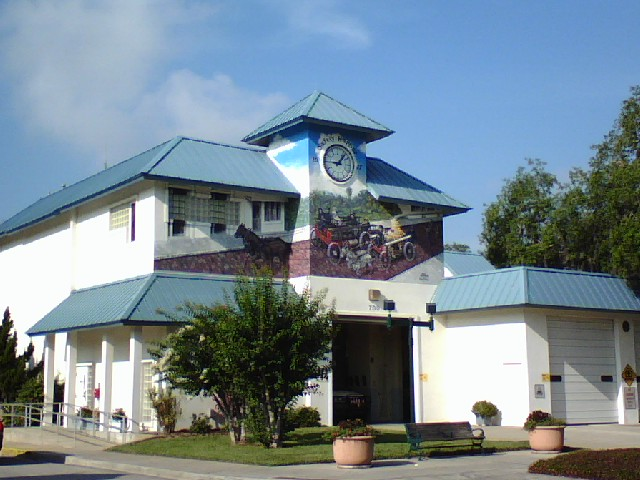 Safety Harbor Florida Fire Station on Main Street