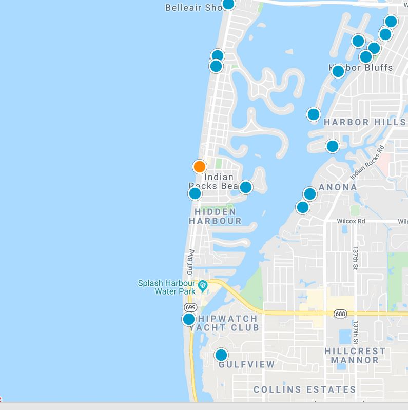 Indian Rocks Beach Map tool image