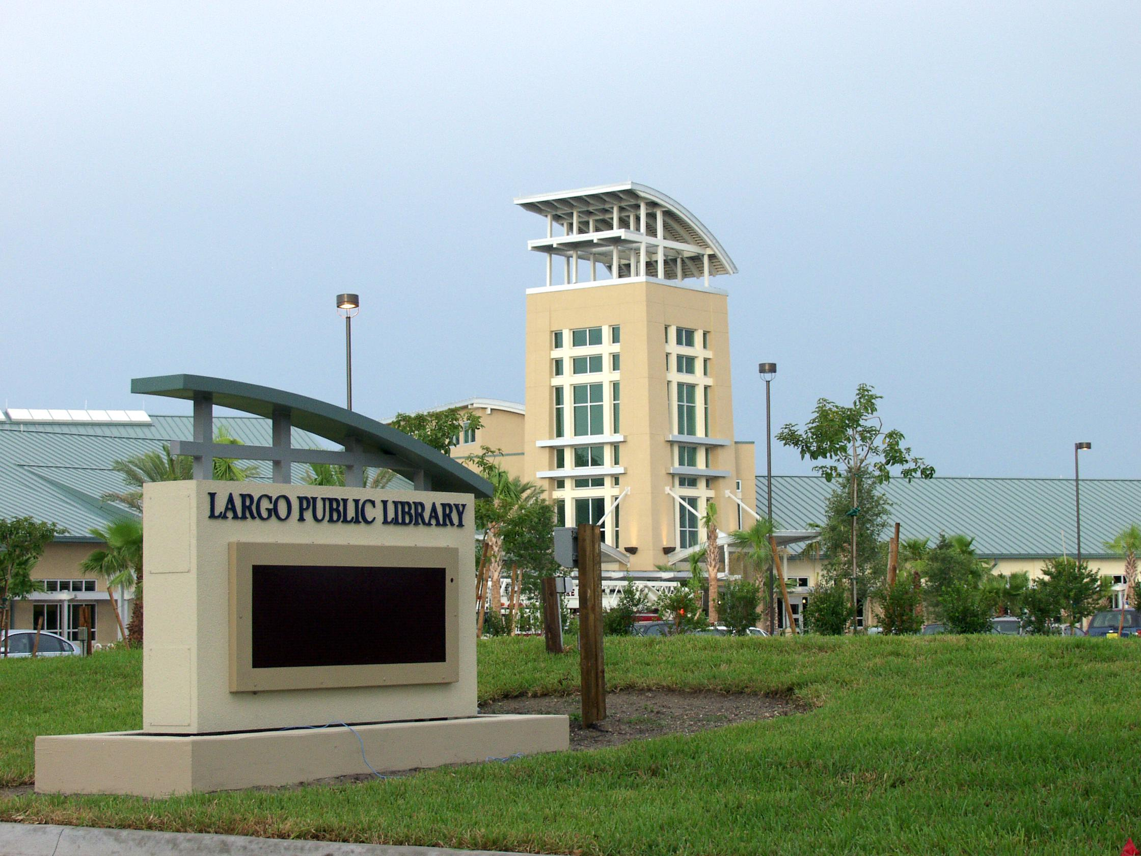 The Public Library in Largo Florida