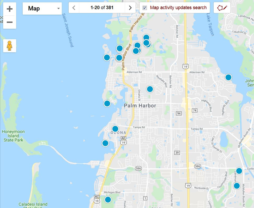 Palm Harbor Map Search Image