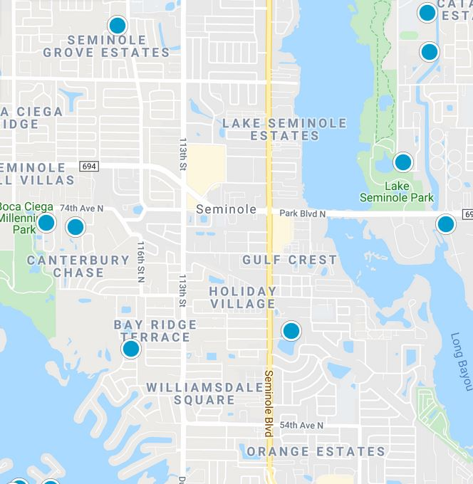 Seminole Florida Map tool image