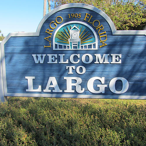 Welcome sign for the City of Largo Florida
