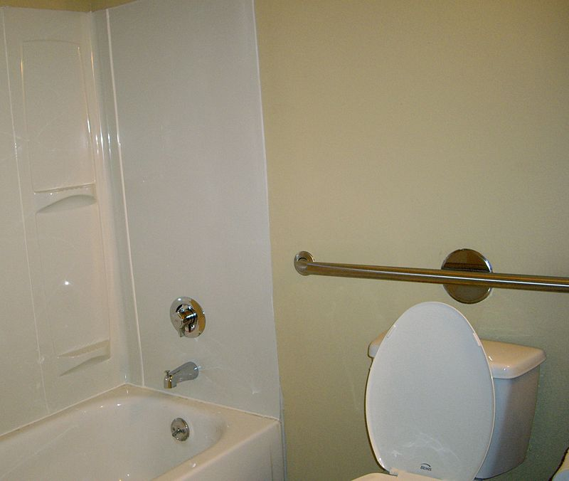 grab bar in carmel home bathroom