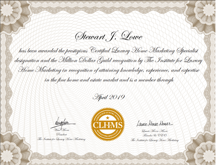 Institute of luxury homes certificate