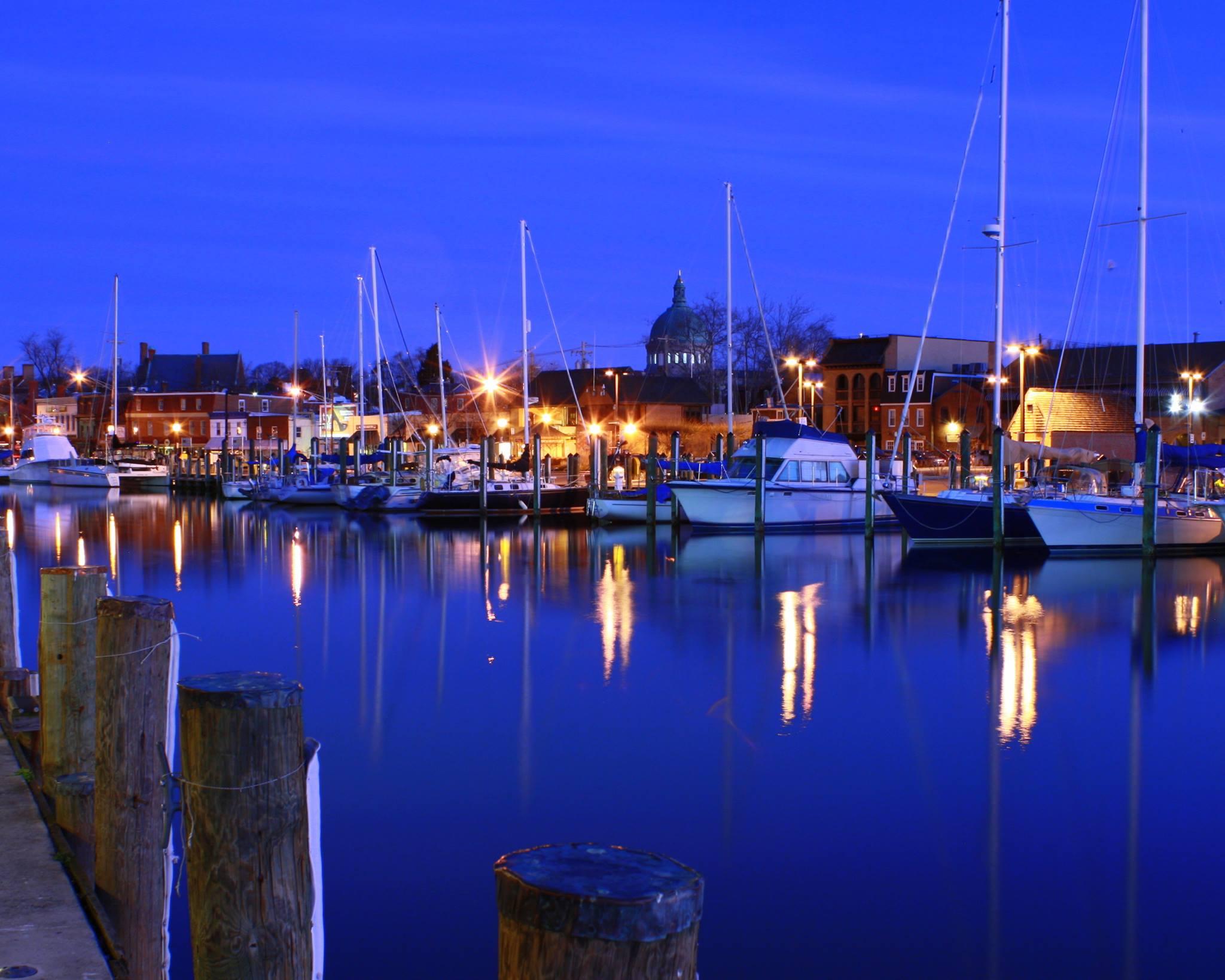 Annapolis Harbor at Night