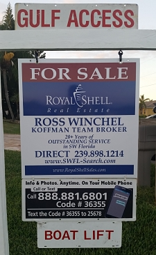 Real Estate For Sale Sign - Ross Winchel - Royal Shell Real Estate