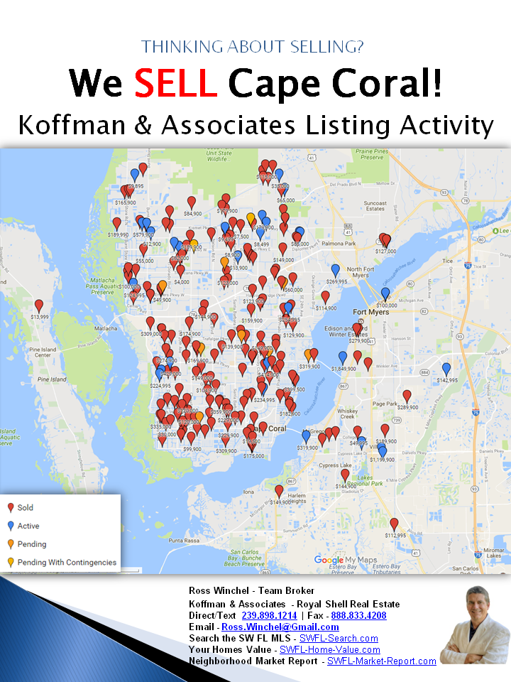 Koffman & Associates Sells Cape Coral Homes