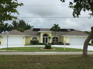 4 car garage Cape Coral home for sale