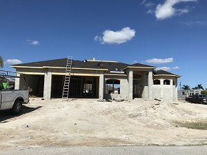 New construction 3 car garage Cape Coral