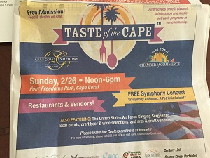 Taste of the Cape 2017 Ad