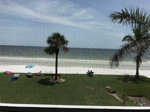 Beachfront view from Pointe South Condo