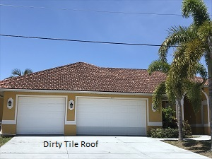 Sample of dirty tile roof