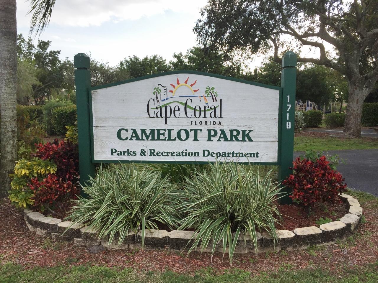 Camelot park sign