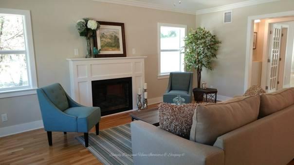 Home Staging Living Room after