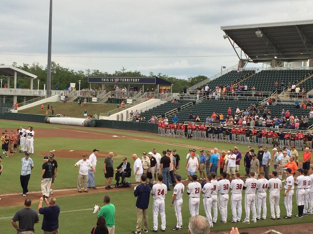 Miracle Baseball honoring veterans
