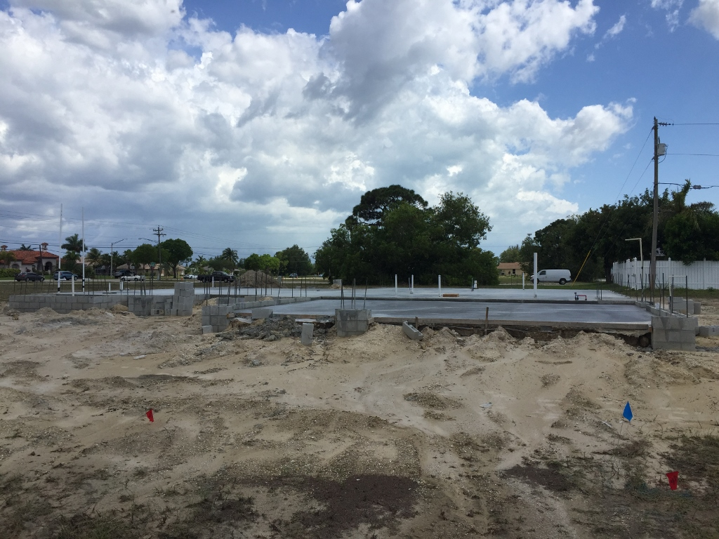 Coconut Bay Stillwater model plumbing in and foundation poured