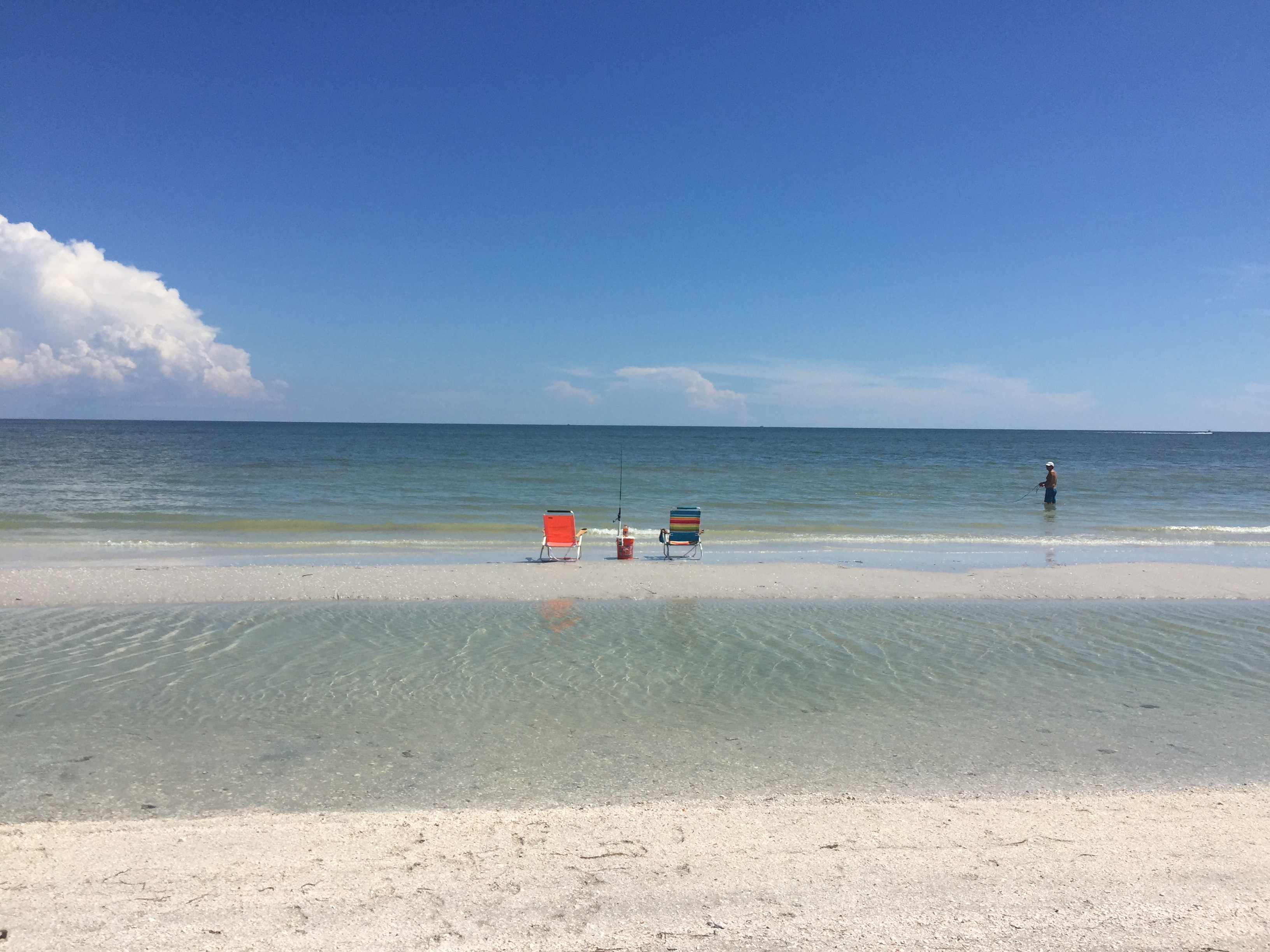 Low tide Sanibel Labor Day