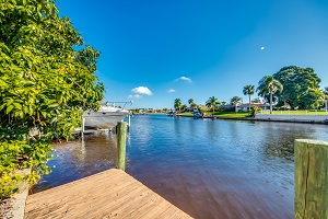 Canal view at 3225 SE 10th Ave Cape Coral